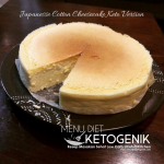 Japanese Cotton Cheesecake Versi Keto Resep