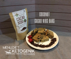 low carb coconut cacao nibs bars
