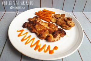 resep chicken steak keto